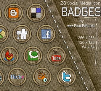 28-Social Media Icon Badges