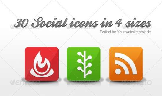 Download Full 30 Modern Social Icons