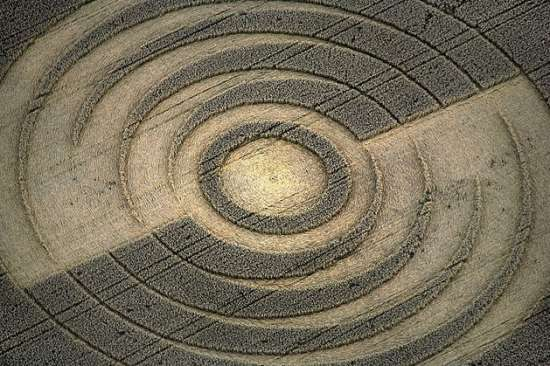 Crop Circle by Aerial Photography