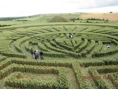 Silbury Hill.Crop.Circle