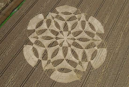 Crop circle formation in the UK.