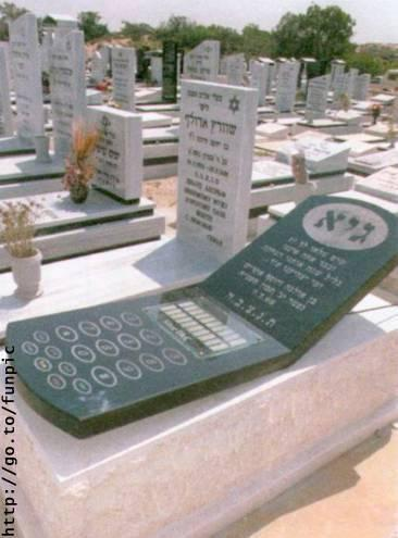 Cell Phone Gravestone