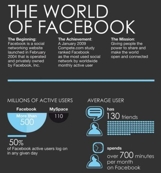 The World Of Facebook Infographic