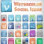 12 Premium Social Network Icons Pack For Web Designer