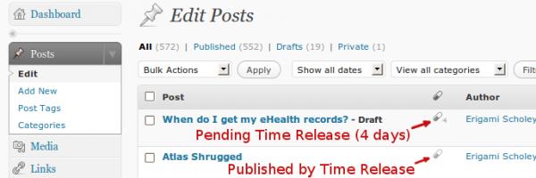 Schedule wordpress plugins – Time Release