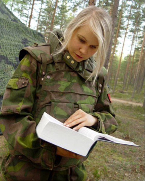 Finnish female soldier
