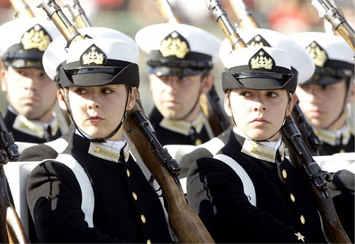 Female Military Chilean navy
