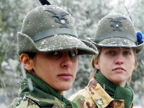 Female Italian Soldier