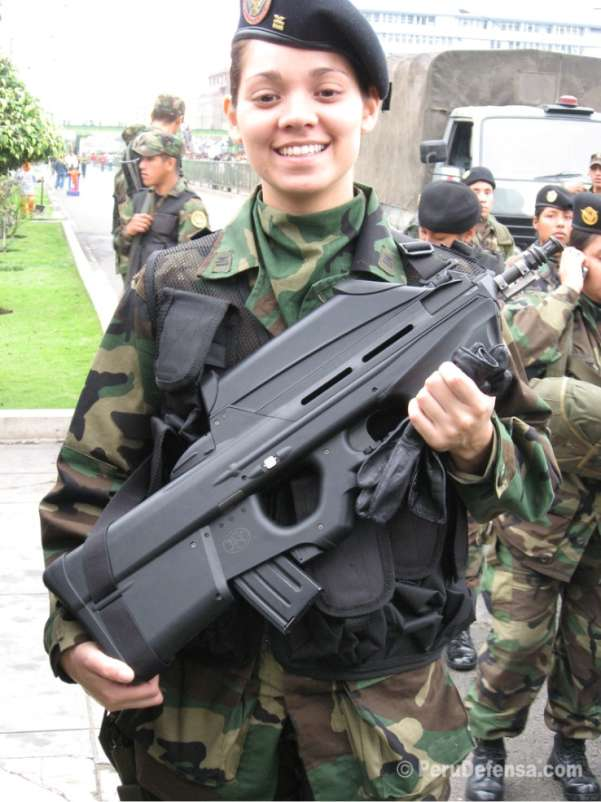 Peruvian Female Soldier
