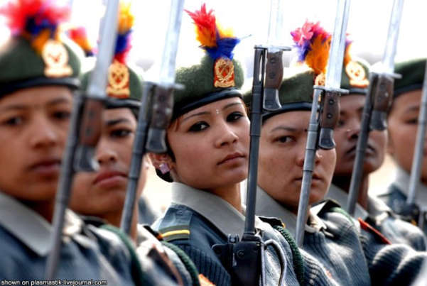 Nepal Female Soldiers