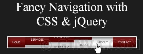 Animated Navigation with CSS &amp; jQuery