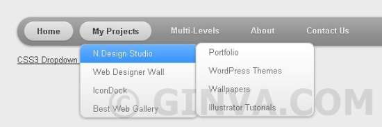 CSS3 Dropdown Menu - Drop Down CSS Menus