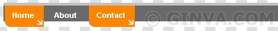 Arrow tabs - Horizontal CSS Menus