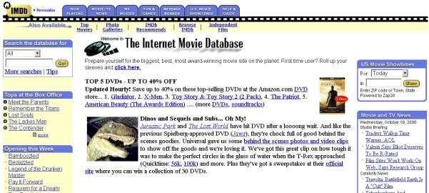 internet movie database imdb � digital spy