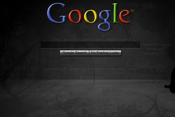 Google Homepage - Dark Wallpaper