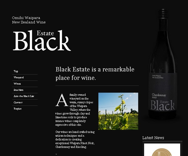 Dark & Black Web Designs