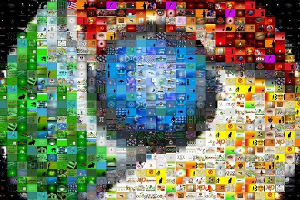 Google Chrome Photo Mosaic Wallpaper