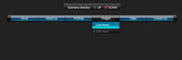 Adobe Flash Navigation Menus