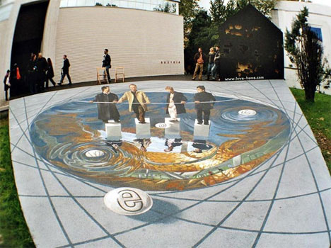 Amazing 3D Street Art Optical Illusions {Sidewalk Chalk Art}
