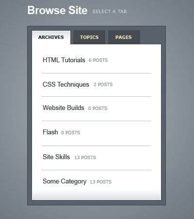 How to create a Slick Tabbed Content Area using CSS & jQuery