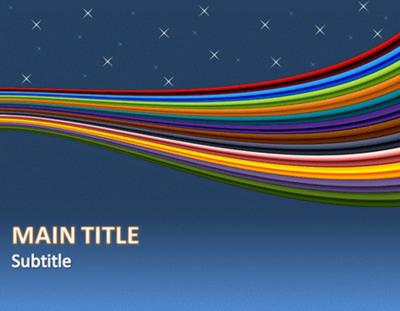 Download Ribbon and Flow Microsoft PowerPoint Templates
