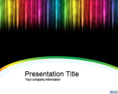 Color Rain Microsoft PowerPoint Templates