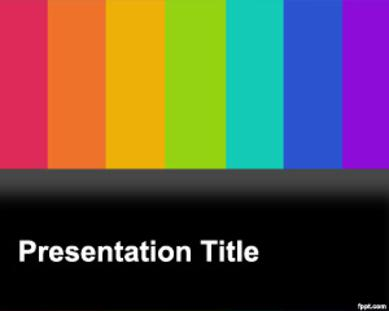 Colorful TV Microsoft PowerPoint Templates