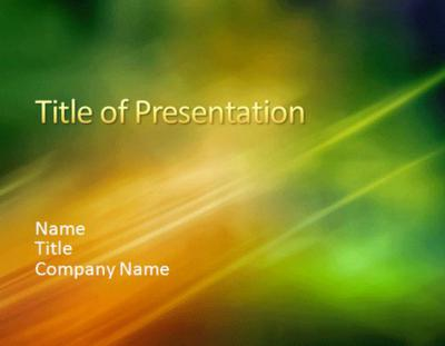 Sample presentation Microsoft PowerPoint Templates