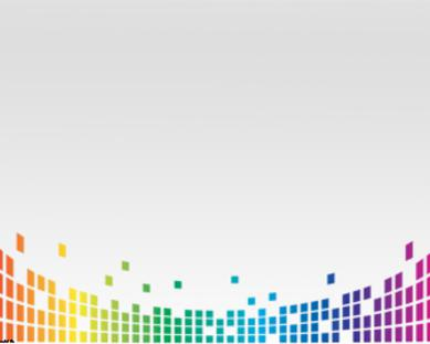 Colorful Equalizer Microsoft PowerPoint Templates