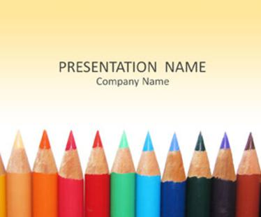 color pencils microsoft powerpoint templates