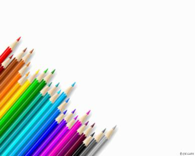 Colored Pencils: powerpoint templates for teachers