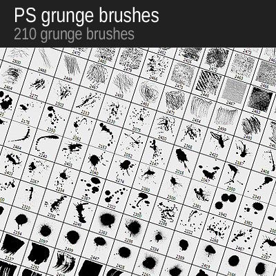 Win 210 Grunge Brushes from VectorPack.net