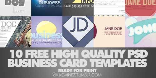 Free High Quality Business Card Templates in PSD (10+ Files)