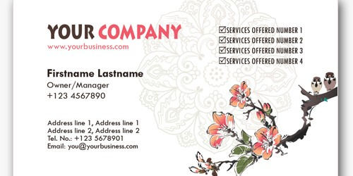 Asian Inspired Business Card PSD File (4+ Files)