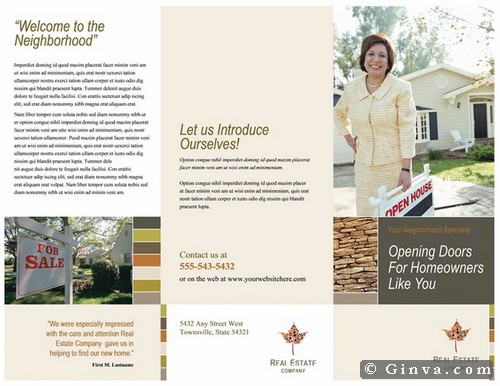 Download Free Microsoft Office Brochure Templates Ginva - Real estate agent flyer template free