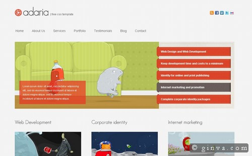 free website template 127