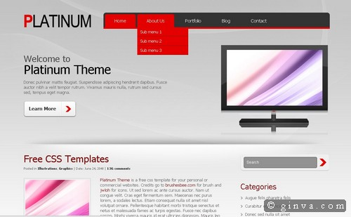 free website template 17