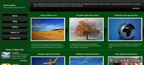 125 free high quality xhtml and css web layout templates ginva html and css web layout templates pronofoot35fo Images