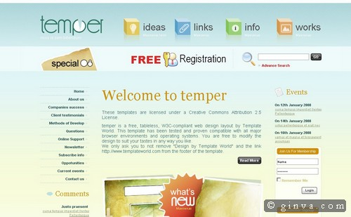 free website template 47