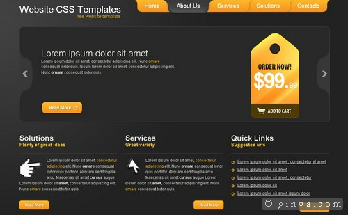 125+ free high-quality (x)html and css web layout templates | ginva, Powerpoint templates