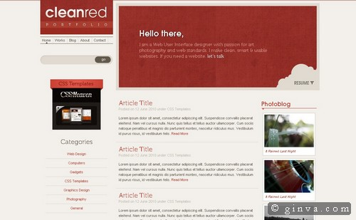 free website template 81