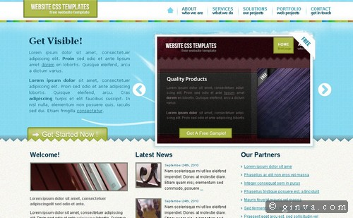 125 free high quality xhtml and css web layout templates ginva html and css web layout templates friedricerecipe Image collections