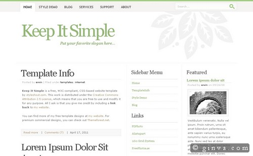 HTML and CSS Web Layout Templates