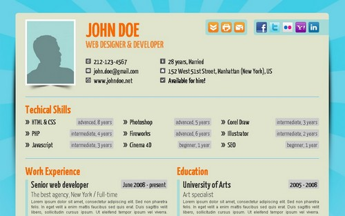 Your No1 Online Resume [Site Templates]