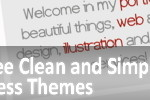 +123 Free Clean and Simple WordPress Themes