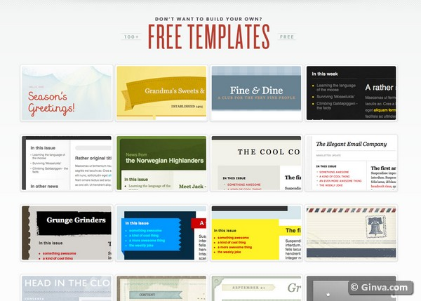 ... Websites for Downloading Free HTML Email Newsletter Templates | Ginva