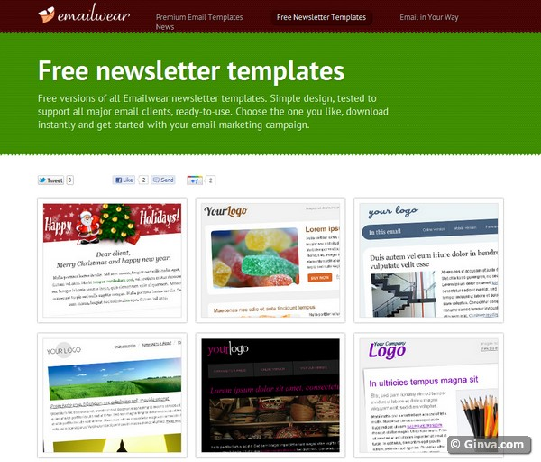 free online newsletter templates - 10 excellent websites for downloading free html email