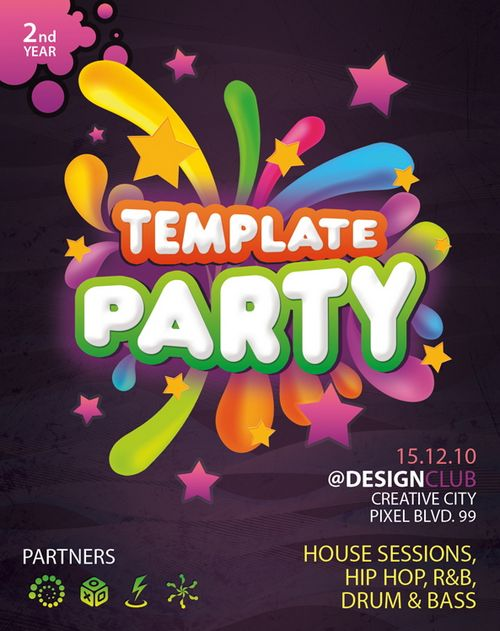Free Party PSD Flyer Template