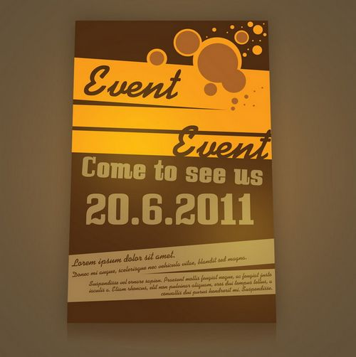 retro style event flyer psd - Free Poster Templates