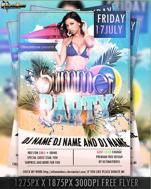 free poster flyer template psd design 17